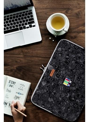 Hamur Easy Case 14 inç Laptop Çantası Notebook Kılıfı Craft New Siyah